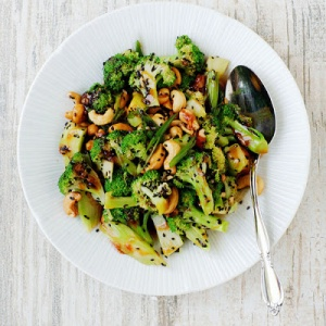 Cashew-Crushed Broccoli