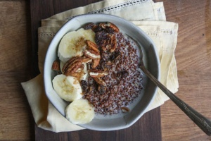 Warm Quinoa Porridge with Coconut Milk