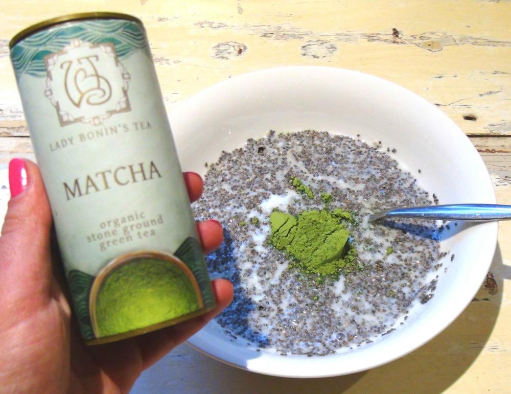Anti-Oxidant Rich Matcha Chia Pudding 2
