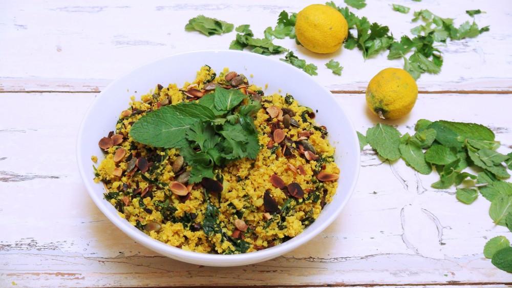 Turmeric and Tamari Cauliflower rice 5