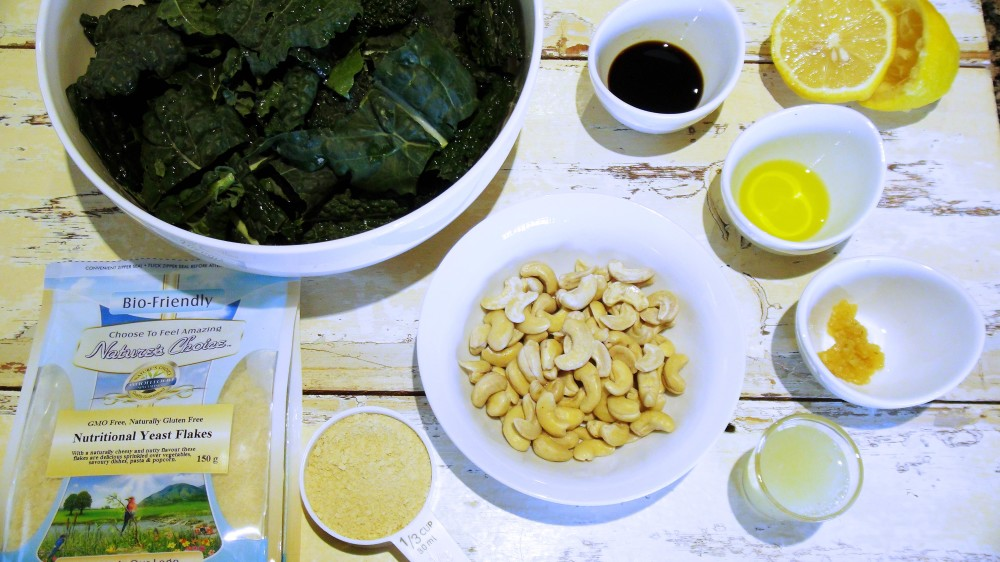 cheesy Vegan Kale Chips ingredients