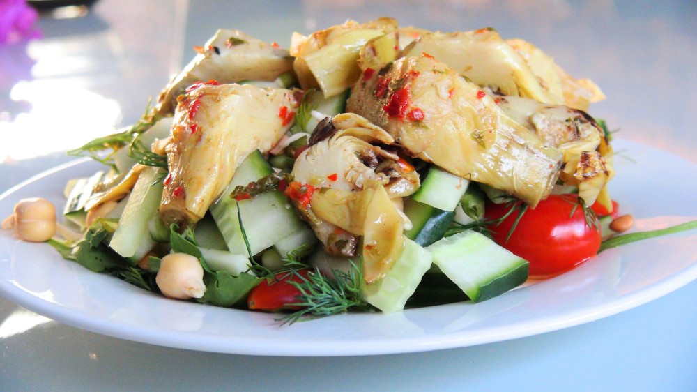 Sweet Chill infused Artichoke Salad 1