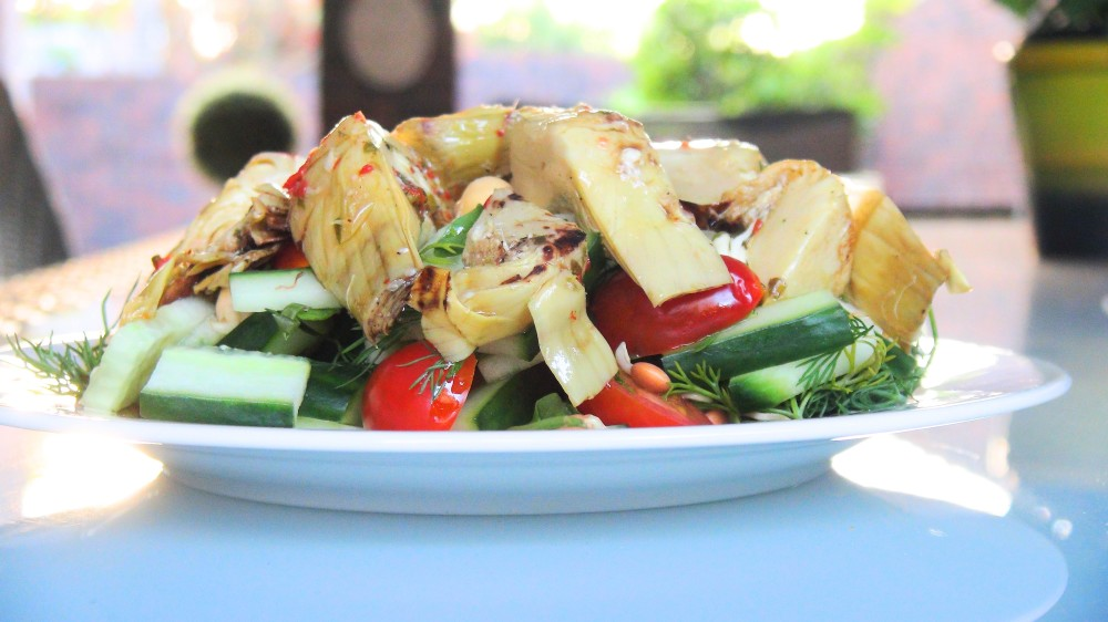 Sweet Chill infused Artichoke Salad 3