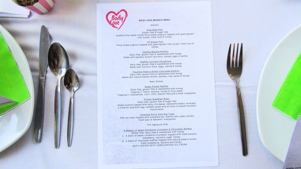 Body Love menu
