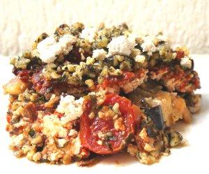 Low Carb Eggplant Lasagne with Basil Pesto