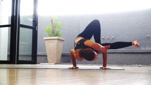 Yoga arm balance