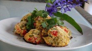 Cauli Rock Cakes with Avocado-Tomato Salsa