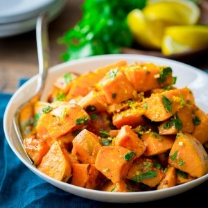 Oven Roasted Spiced Butternut with Fresh Coriander