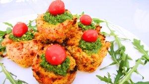 Cauli carrot muffins 1