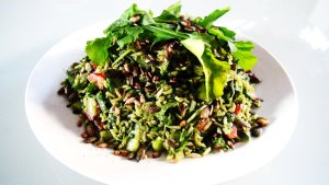 Fragrant Pesto Rice with Toasted Sunflower Seeds