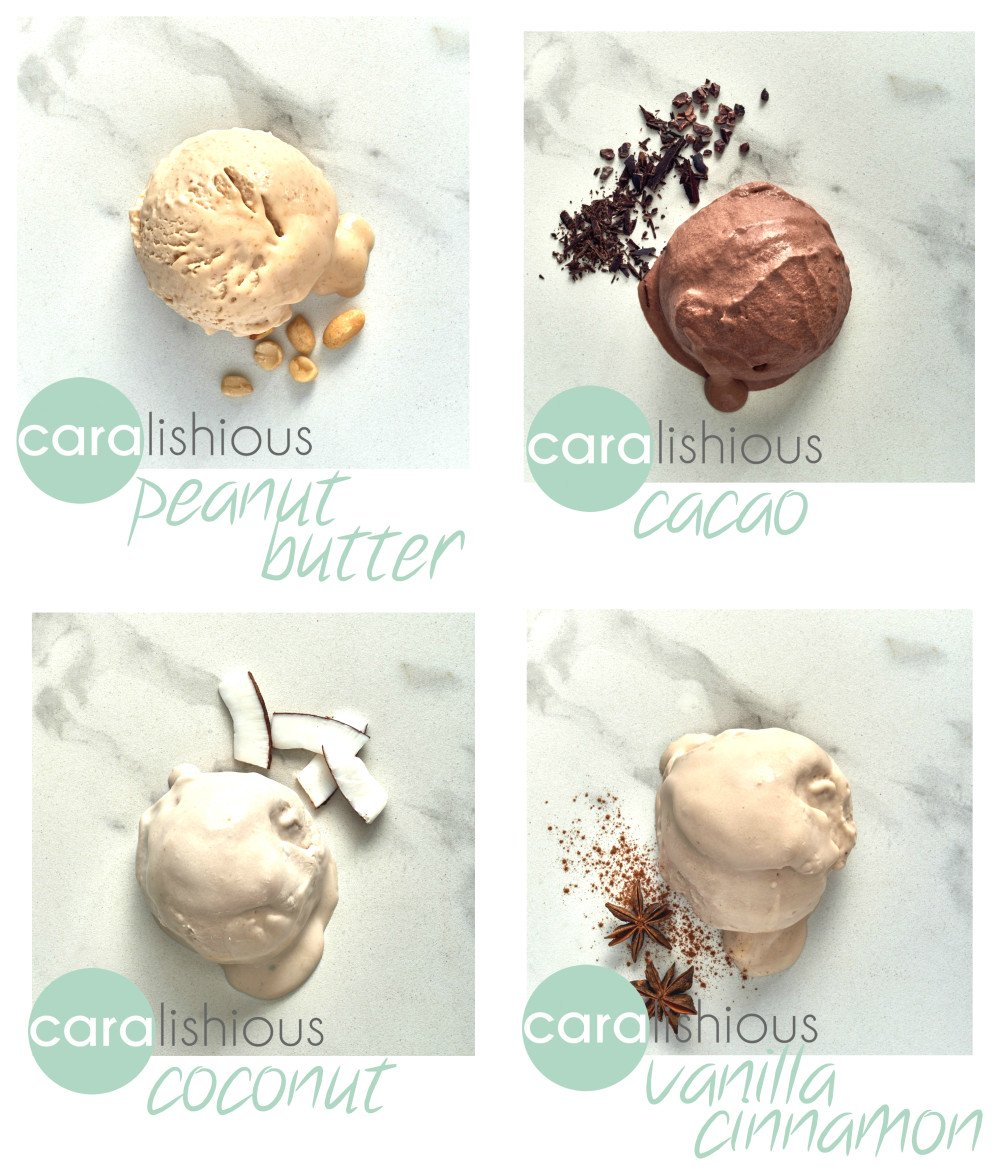 Caralishious Vegan Ice Cream Flavours