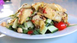 Sweet Chill infused Artichoke Salad 1