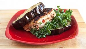 Egg-Plant Bun Teriaki Burgers Recipe