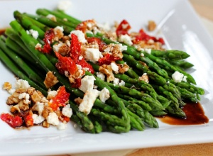 Balsamic Infused Asparagus and Tomato Medley