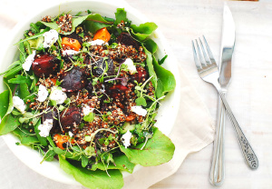 Beetroot, carrot and quinoa salad