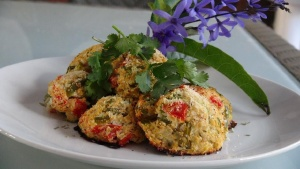 Cauli Rock Cakes with Avocado-Tomato Salsa