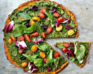 Vegan Butternut Base Veggie Pizza